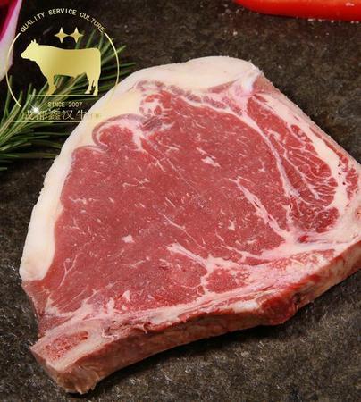 【鑫汉牛排】澳洲进口谷饲原切 牛排带骨西冷200g/片成都牛排