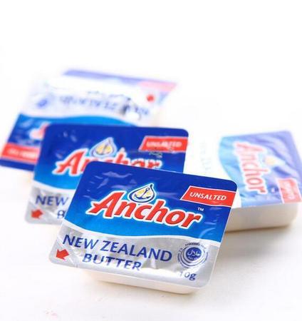 新西兰进口原装安佳黄油无盐黄油 面包黄油 煎牛排黄油 7g*20个